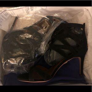 Aquazzura Shoes - NWT Aquazzura Suede Cage Sandals/Heels
